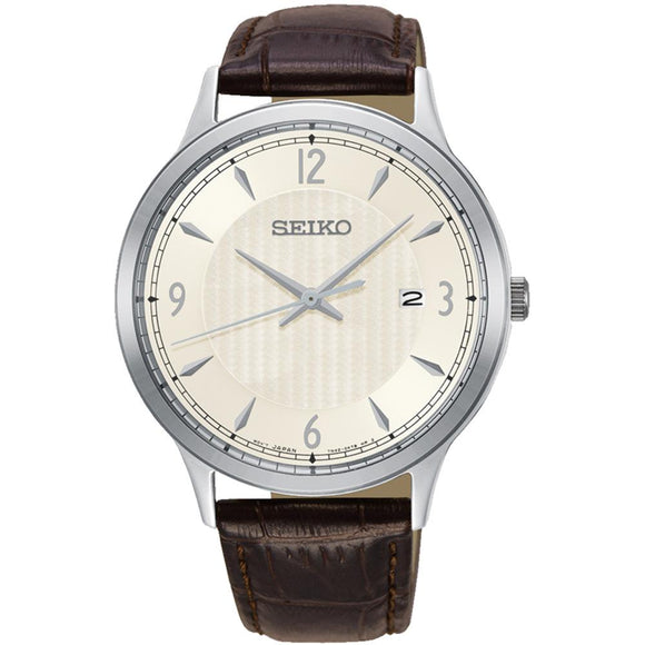 Seiko Conceptual Leather Men's Watch -  SGEH83P