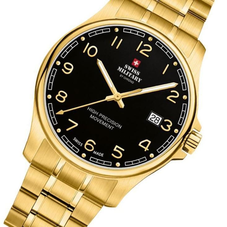 Swiss Military Gold Stainless Steel Men's Watch - SM30200.22