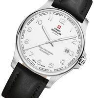 Swiss Military Black Leather Men's Watch - SM30200.25