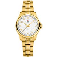 Swiss Military Gold Stainless Steel Women's Watch - SM30201.23