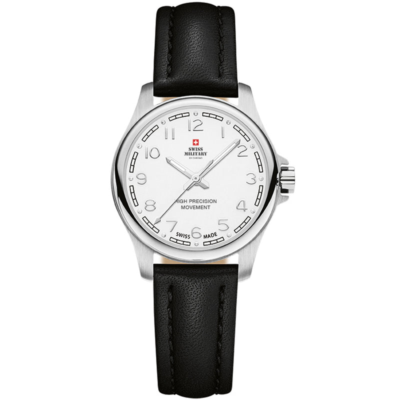 Swiss Military Black Leather Women's Watch - SM30201.25
