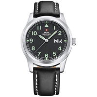 Swiss Military Men's Leather Luminous Watch - SM34004.09