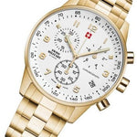 Swiss Military Gold Stainless Steel Men's Watch - SM34012.03