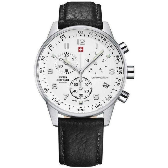 Swiss Military Men's Leather Watch - SM34012.06