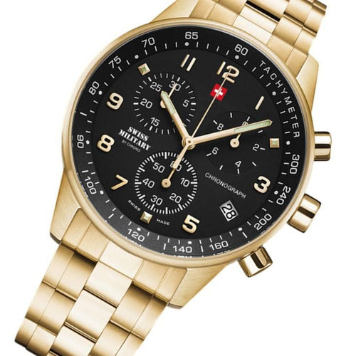 Swiss Military Gold Steel Men's Chrono Watch - SM34012.12