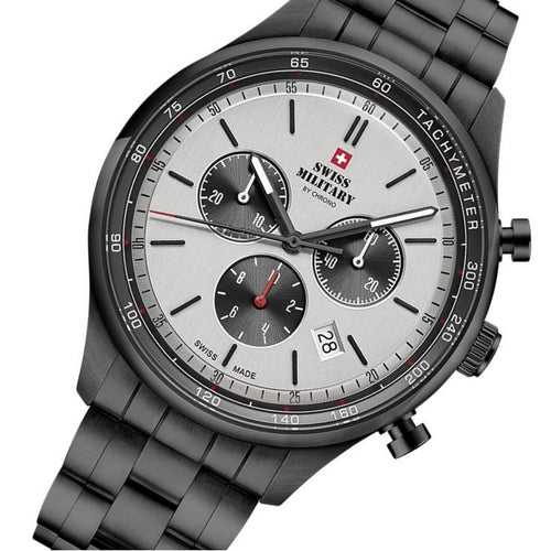 Swiss Military Sports Black Steel Men's Watch - SM34081.05