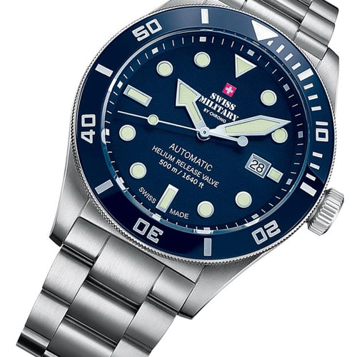 Swiss Military Deep Blue Men's Automatic Watch - SMA34075.02