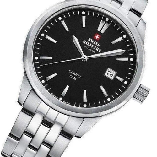 Swiss Military Stainless Steel Men's Watch - SMP36009.01