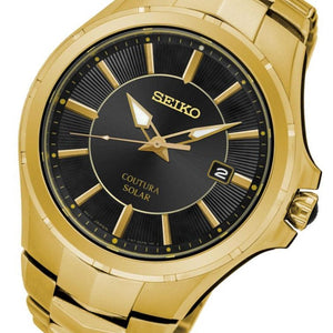 Seiko Coutura Gold Solar Powered Men's Watch - SNE420P