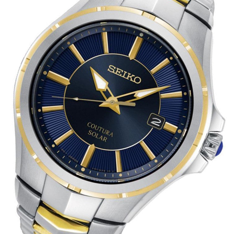 Seiko Coutura Dual-Tone Solar Powered Men's Watch - SNE514P