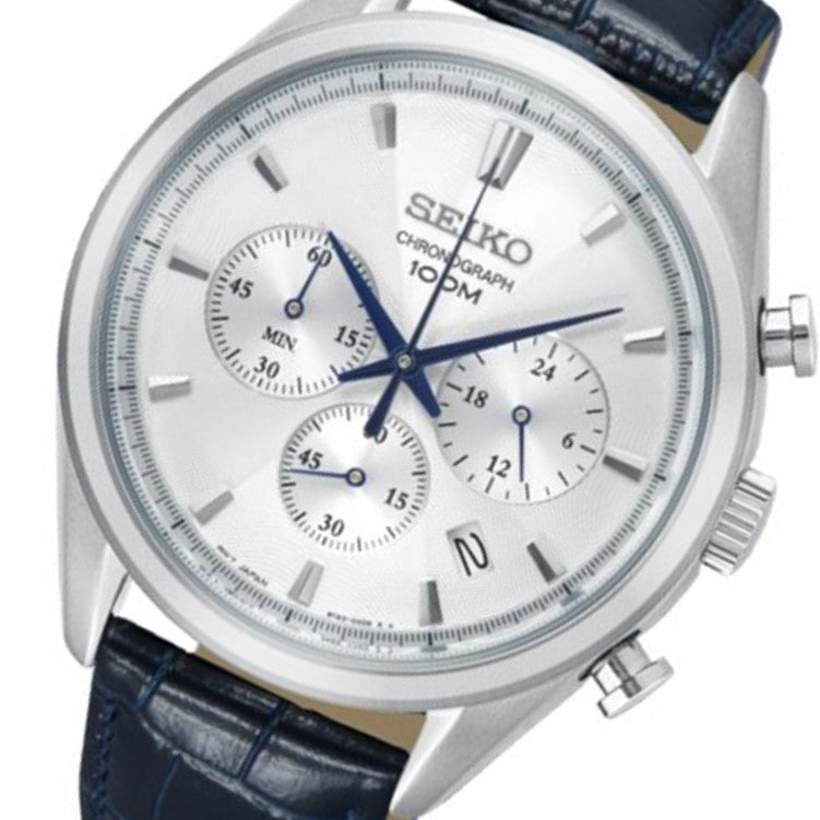Seiko Conceptual Leather Men's Watch -  SSB291P