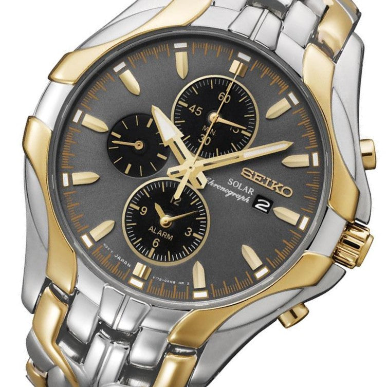 Seiko Conceptual Gold & Silver Solar Powered Men's Watch - SSC138P-9