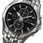 Seiko Conceptual Gunmetal & Silver Solar Powered Men's Watch - SSC139P-9