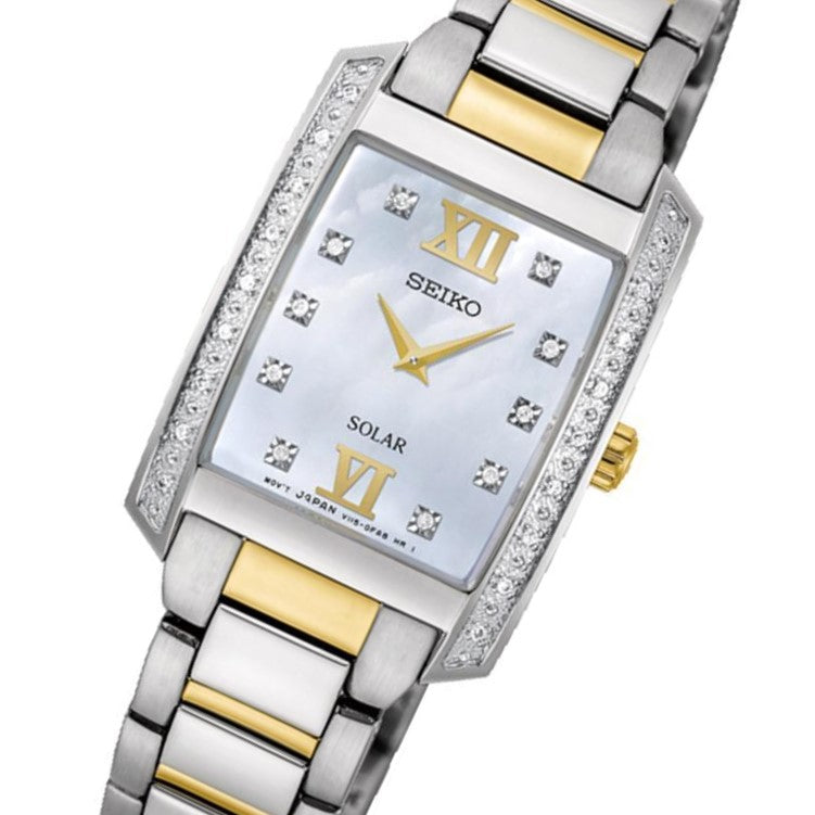 Seiko Conceptual Solar Powered Diamond Encrusted Ladies Watch - SUP403P-9