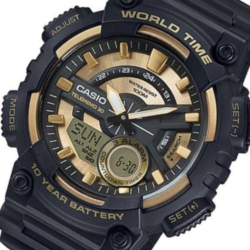 Casio Analog Digital World Time Men's Watch - AEQ110BW-9A