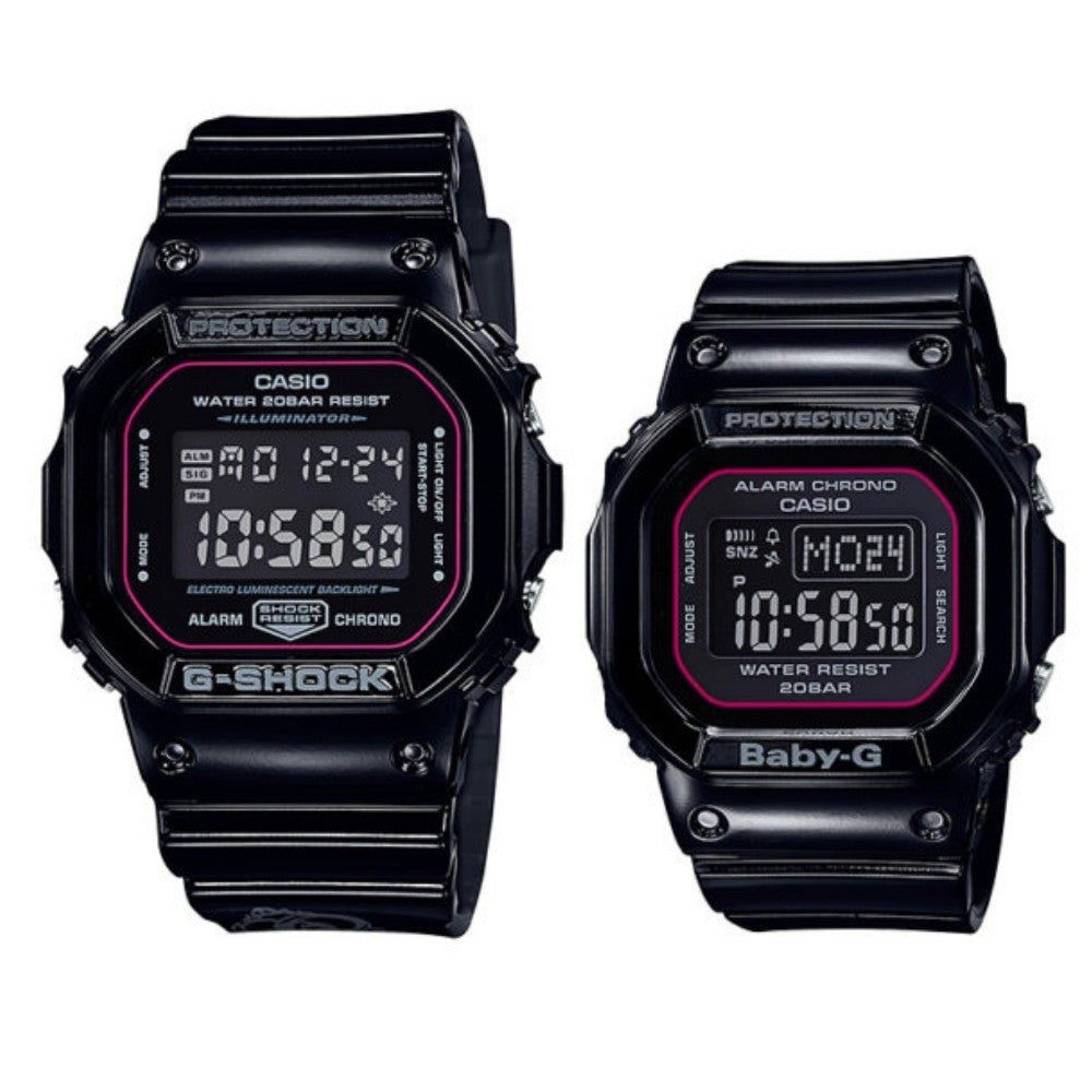 Casio G-Shock & Baby-G Limited Edition Couples Set - 5600SLV-1D