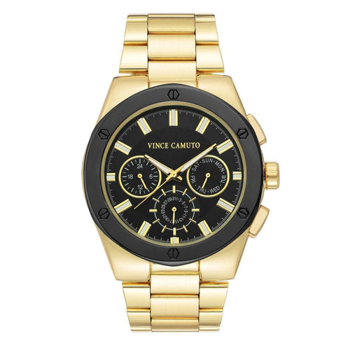 Vince Camuto Gold Steel Men's  Watch - VC1104BKGP