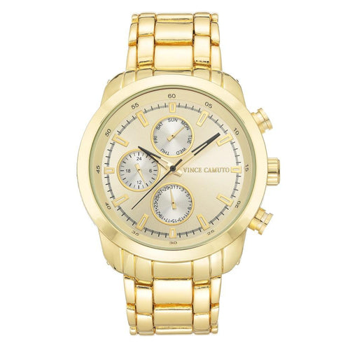 Vince Camuto Gold Steel Men's Watch - VC1133CHGP