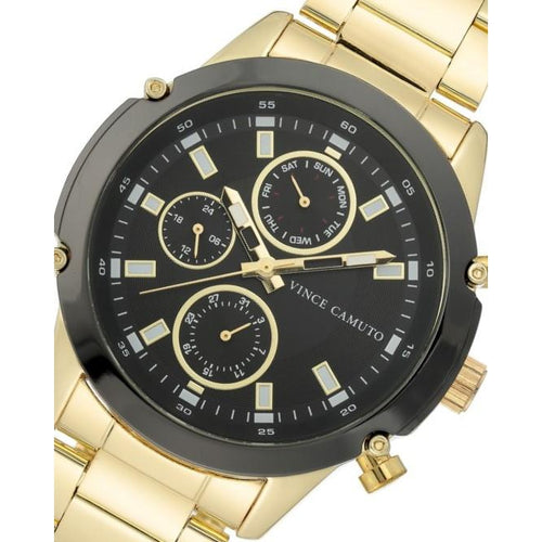 Vince Camuto Elegant Gold Steel Men's  Watch - VC1135BKGP