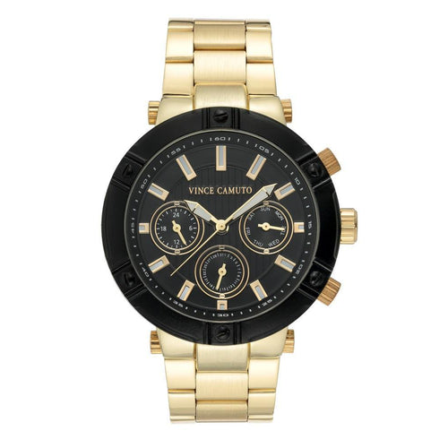 Vince Camuto Gold Steel Men's  Watch - VC1137BKGP