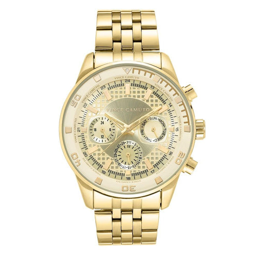Vince Camuto Gold Steel Men's  Watch - VC1139CHGP