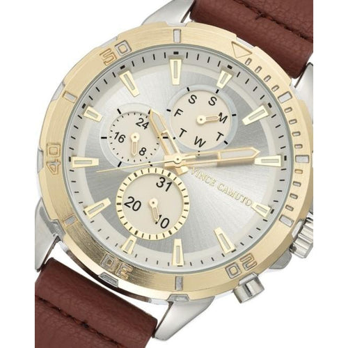 Vince Camuto Brown Polyurethane Band Men's Watch - VC1141SVTT