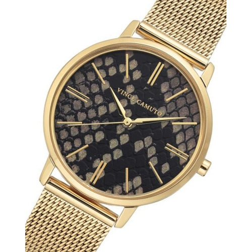 Vince Camuto Gold Mesh Ladies Watch - VC5344BKGB