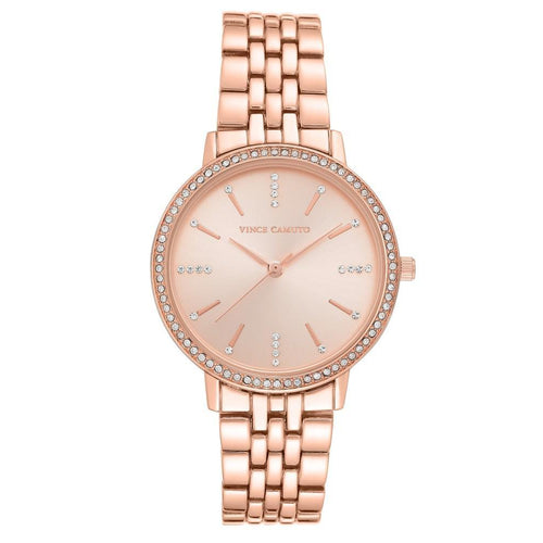 Vince Camuto Rose Gold Steel Ladies  Watch - VC5386RGRG