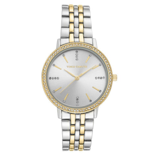 Vince Camuto Silver Sunray Dial Ladies Watch - VC5387SVTT