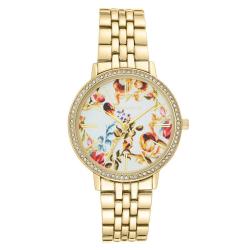 Vince Camuto Gold Steel Ladies Watch - VC5390FLGB