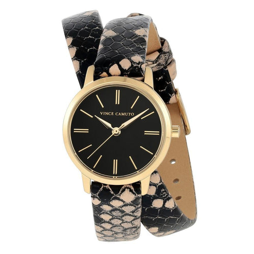 Vince Camuto Vegan Leather Ladies  Watch - VC5398BKCR