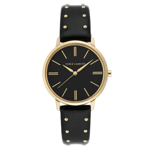Vince Camuto Black Vegan Leather Ladies Watch - VC5400BKBK