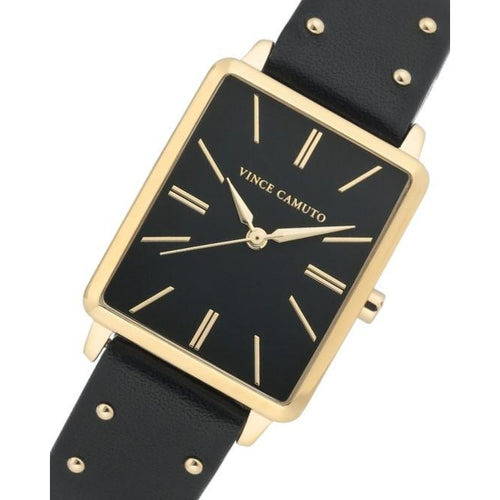 Vince Camuto Black Vegan Leather Women's Watch - VC5410BKBK