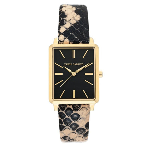Vince Camuto Vegan Leather Ladies Watch - VC5410BKCR