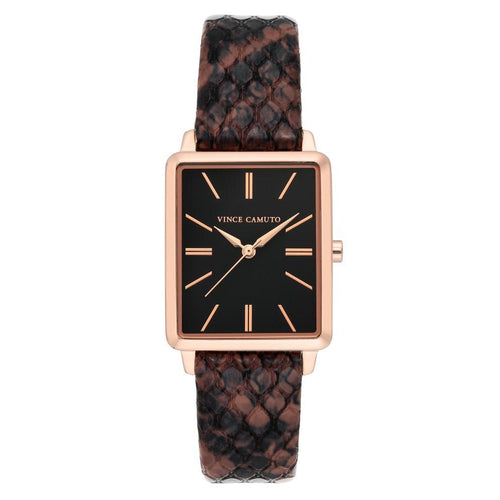 Vince Camuto Brown Snake Pattern Leather Ladies Watch - VC5410RGBN