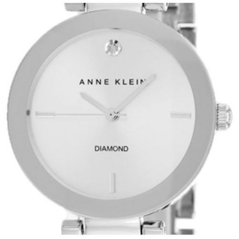 Anne Klein Diamond Silver Bracelet Ladies Watch - AK1363SVSV