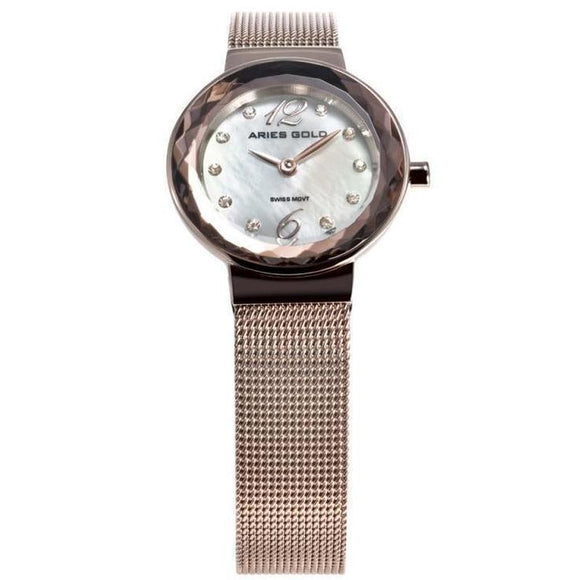 Aries Gold Enchant Ladies Watch -L 5026 RD-MOP