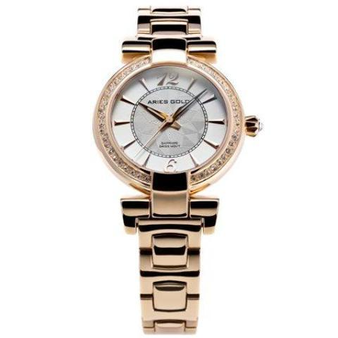Aries Gold Ladies Enchant Quartz Watch - L-500-G-WHITE-The Watch Factory Australia