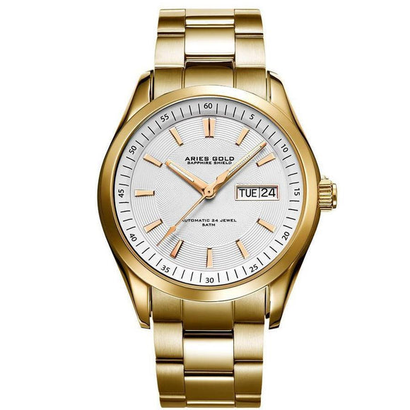 Aries Gold Mens Urban Automatic Watch - G-9004-G-W-The Watch Factory Australia