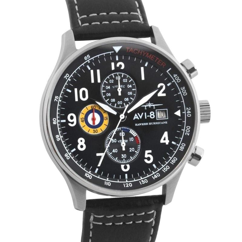 AVI-8 Hawker Hurricane Men's Black Watch - AV401102