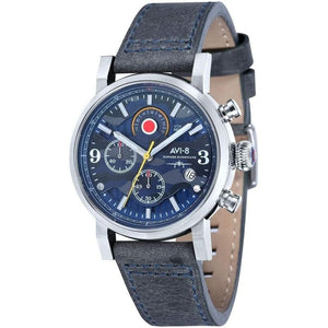 AVI-8 Hawker Hurricane Men's Leather Watch - AV-4041-07-The Watch Factory Australia