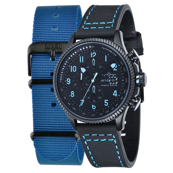 AVI-8 Men's Hawker Hunter Black Blue Watch - AV-4036-04