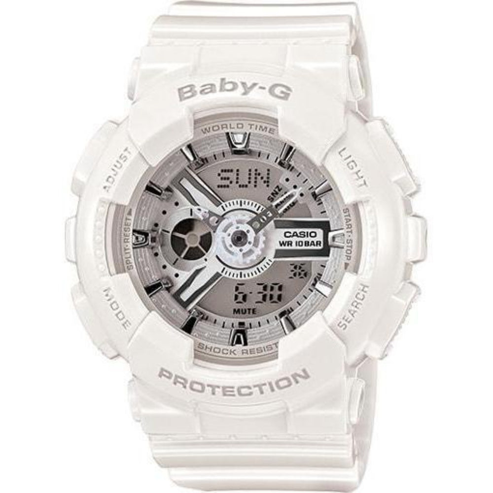 Casio Baby-G  White Digital Watch - BA110-7A3