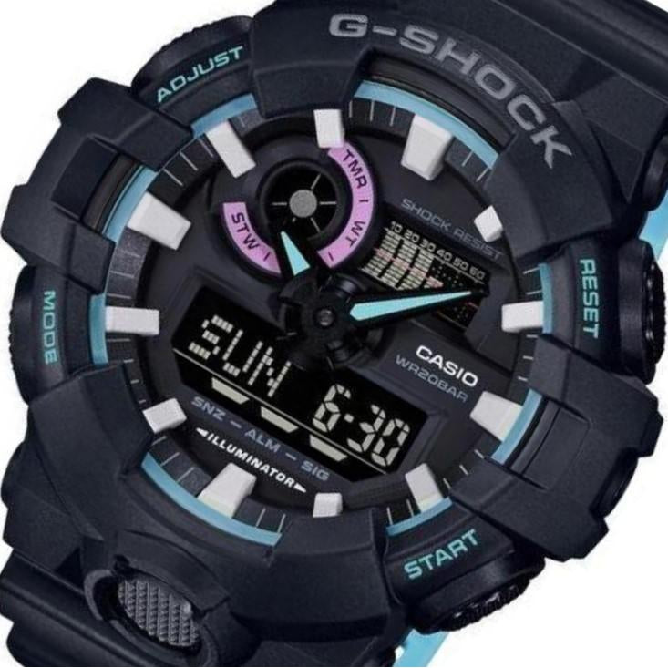 Casio G-SHOCK Duo Chrono Watch - GA700PC-1A