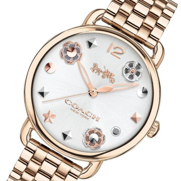 Coach Delancey Gold Quartz Ladies Watch - 14502811