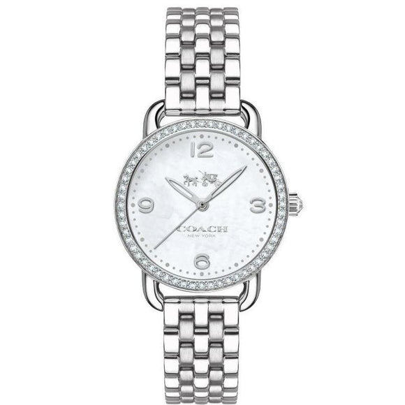 Coach Delancey Ladies Silver Watch - 14502477-The Watch Factory Australia