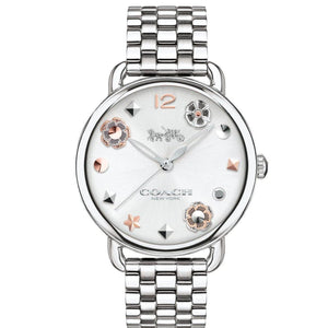 Coach Delancey Silver Ladies Watch - 14502810-The Watch Factory Australia