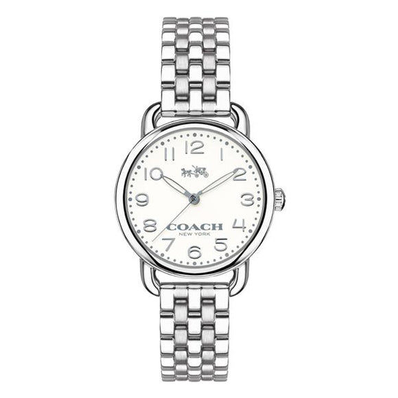 Coach DELANCEY Silver Quartz Ladies 14502240-The Watch Factory Australia