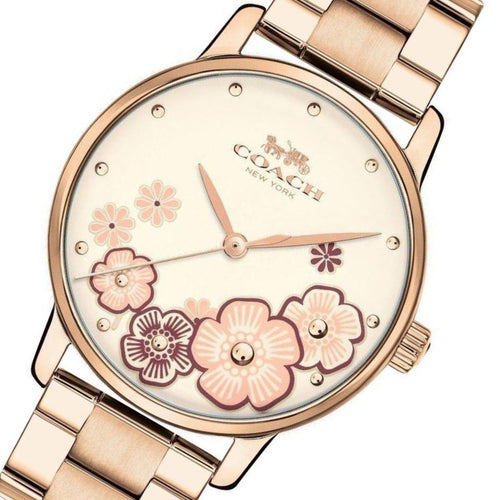 Coach Ladies Carnation Gold Grand Watch - 14503007