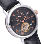 Earnshaw Beaufort Automatic Leather Mens Watch - ES-8047-01